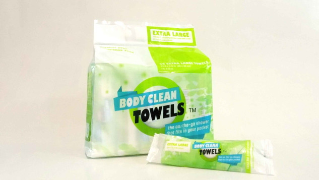 BODY CLEAN TOWELS PACKAGING