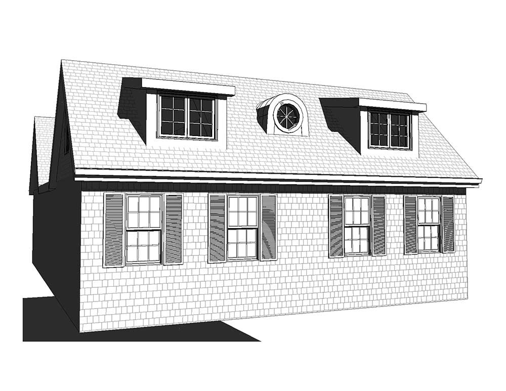 Cottage Dormer House - Drawing