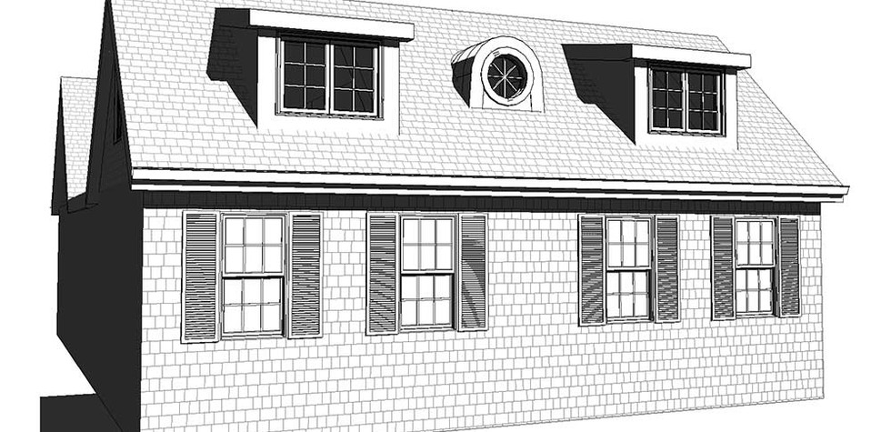 Cottage Dormer House - Drawing