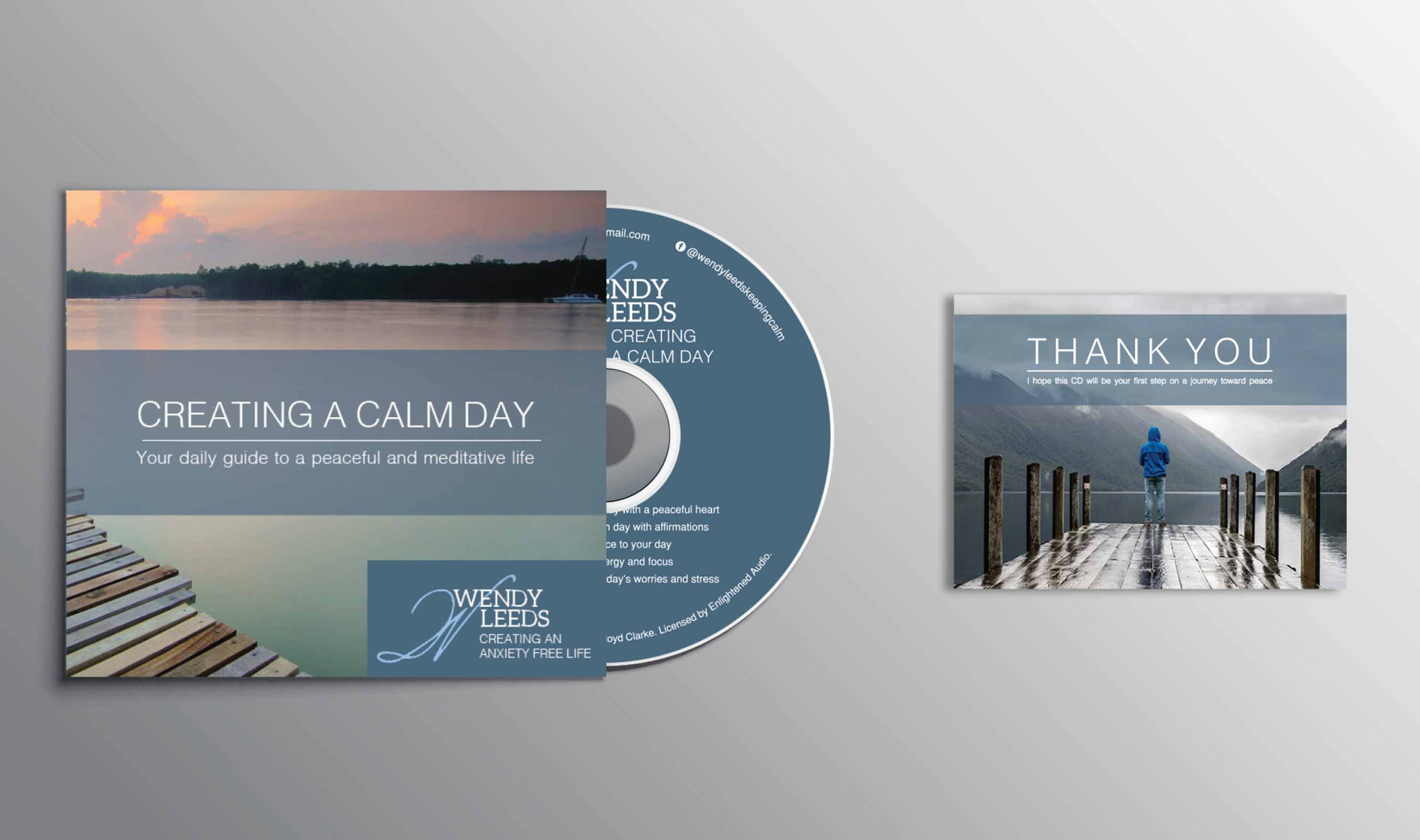cd front cover and thank you card