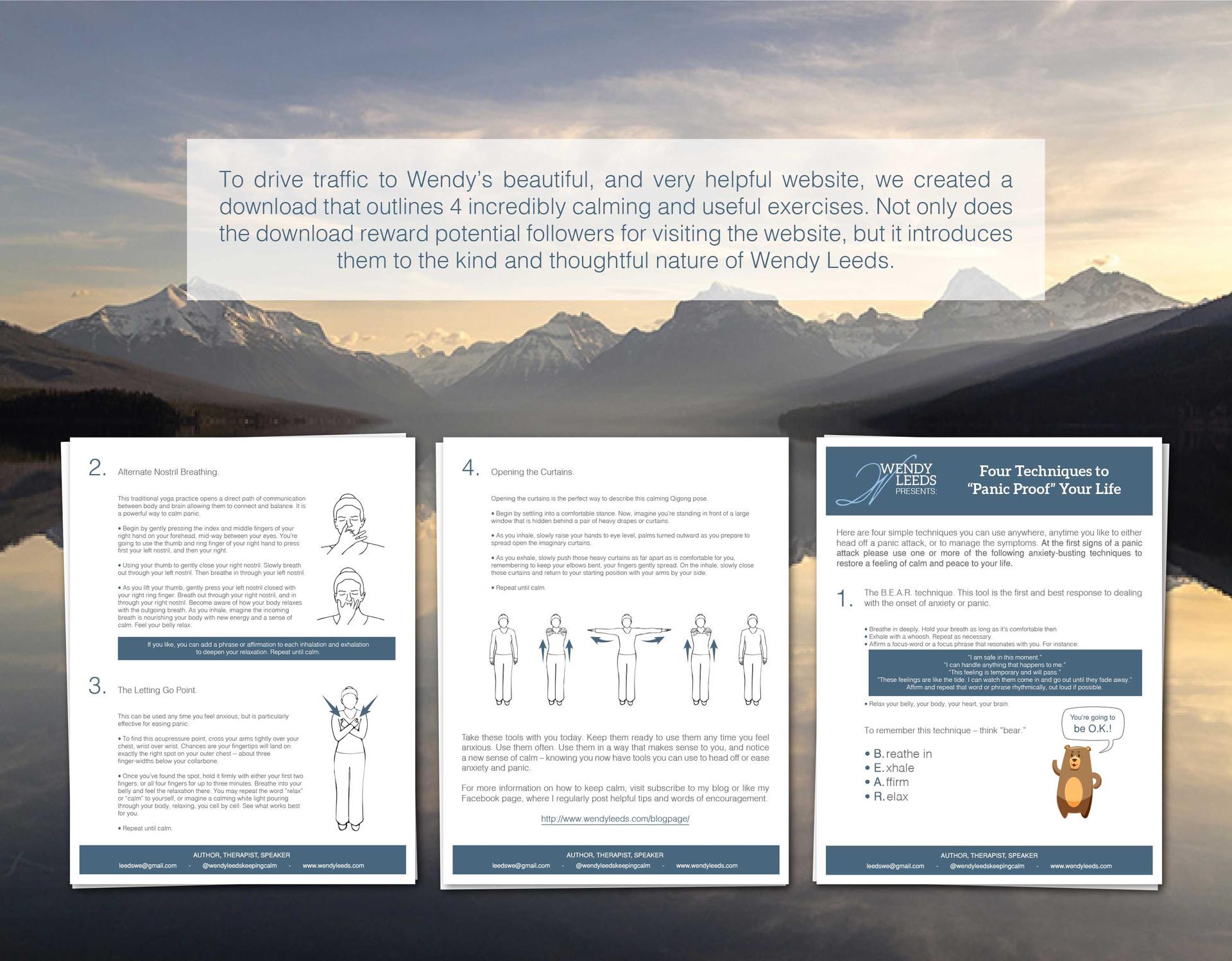 exercise flyer, digital download