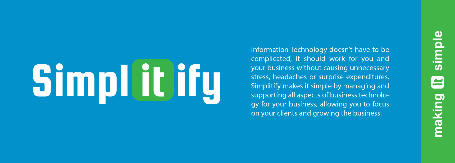 logo for colored background, tagline, and about simplitify