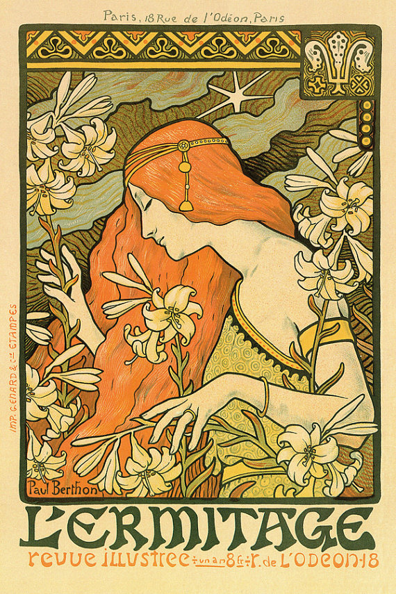 Top Art in Advertising: Art Nouveau | Inkind Design - The Kinder  DG39