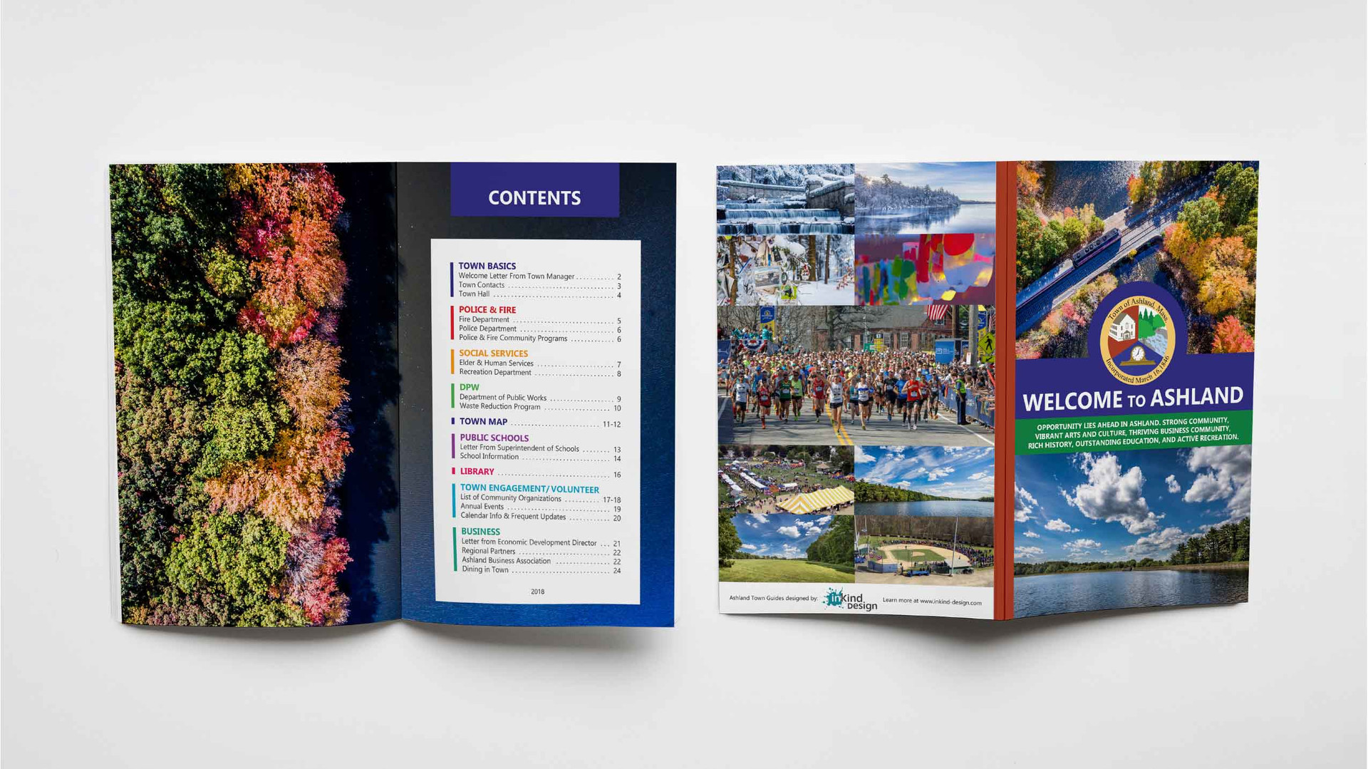 TOWN GUIDETOWN GUIDE, PRINT DESIGN, BOOKLET