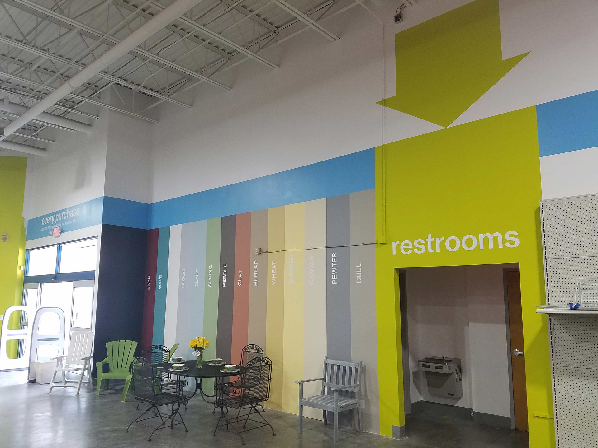 paint color reference and restroom