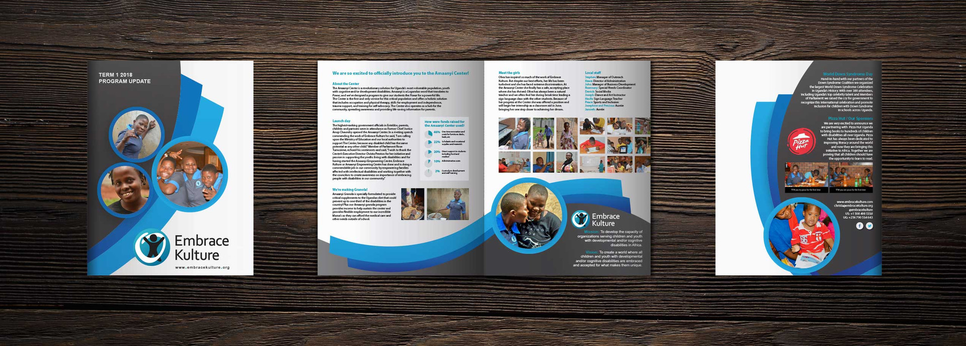 QUARTERLY NEWSLETTER, BRANDING, PRINT DESIGN