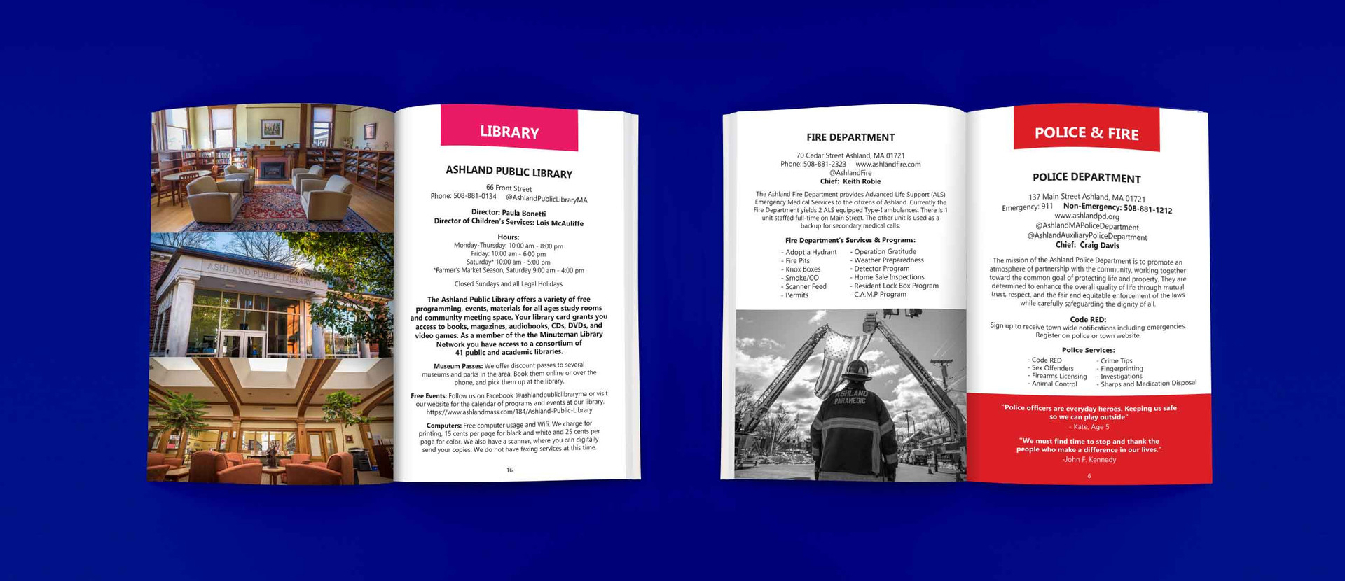 TOWN GUIDE, PRINT DESIGN, BOOKLET