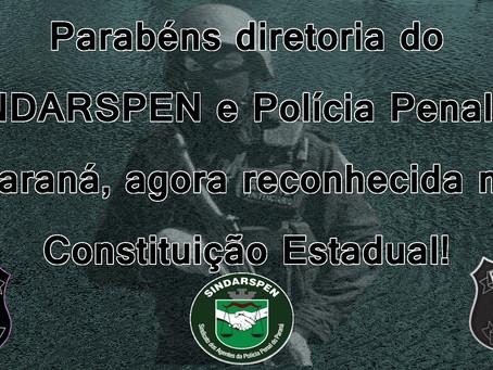 PARABÉNS SINDARSPEN E POLÍCIA PENAL DO PARANÁ