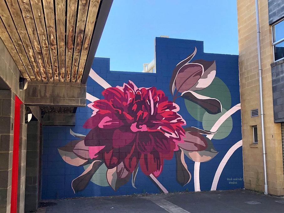 Owen Street Flower Mural Adelaide Gilbert Street
