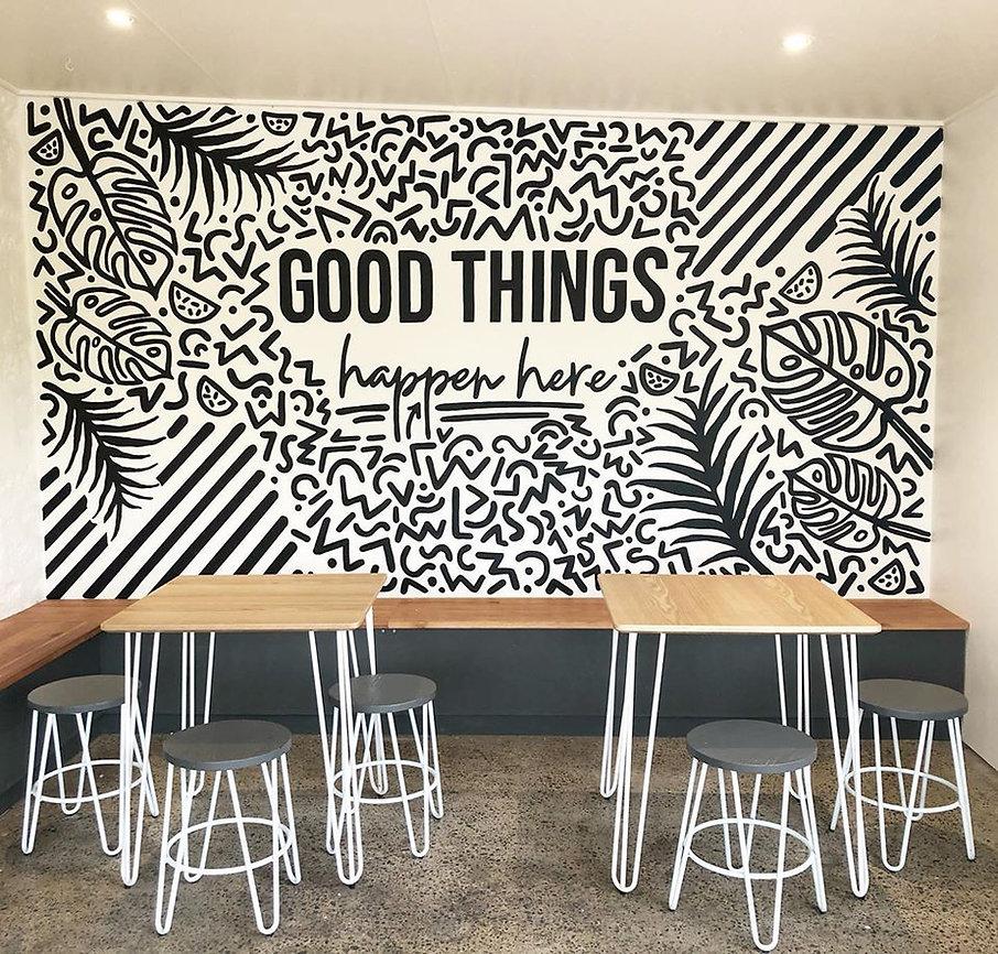 Good Things Happen Here Home Grain Bakery Mural Aldinga