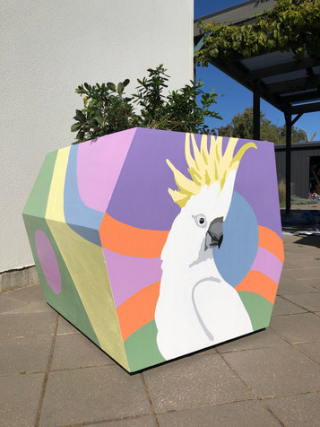 Rundle Mall planter box installation