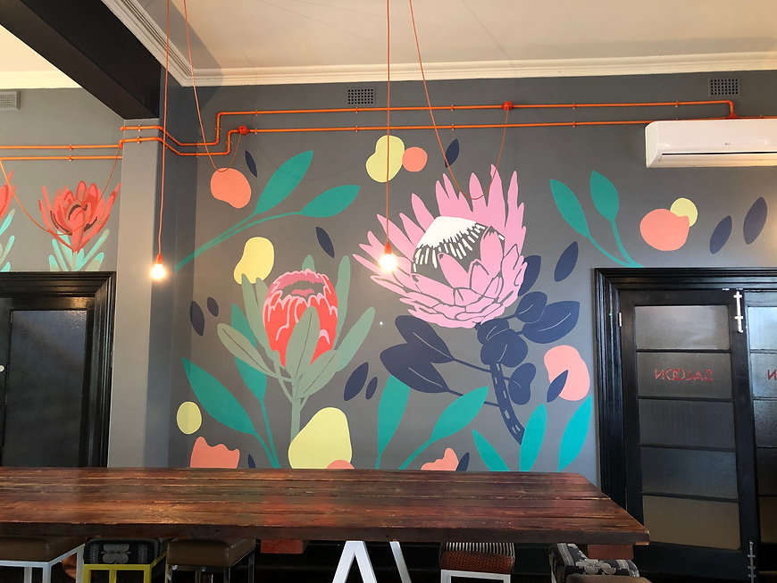 Franklin Boutqiue Hotel City of Adelaide Mural Botanical Flowers