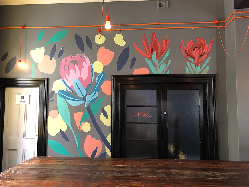 Franklin Boutique Hotel Botanical Flowers Mural City of Adelaide