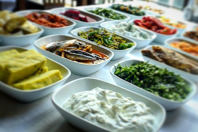 les meze proposés chez Pera Balik ( photo : Ufuk Kaan Altın )