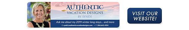 Ad for Authentic Vacation Designs in Gimli, Manitoba