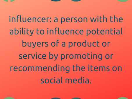ARE YOU AN #INFLUENCER?