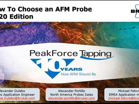 Atomic Force Microscopy - Probe selection