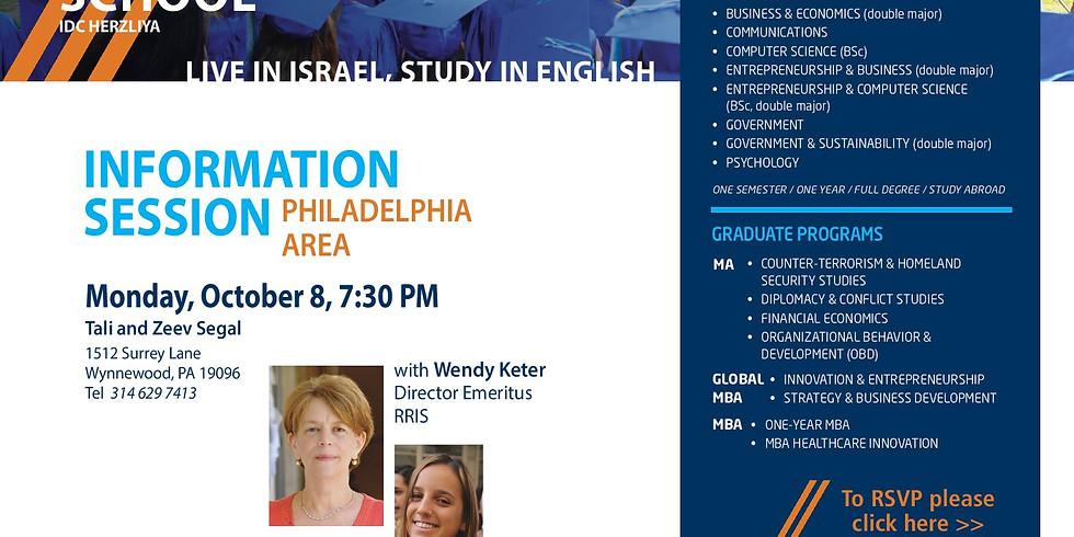 Wendy Keter Parlour Meeting in Philadelphia