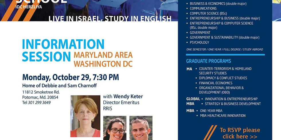 Wendy Keter Parlour Meeting in Washington DC- Maryland