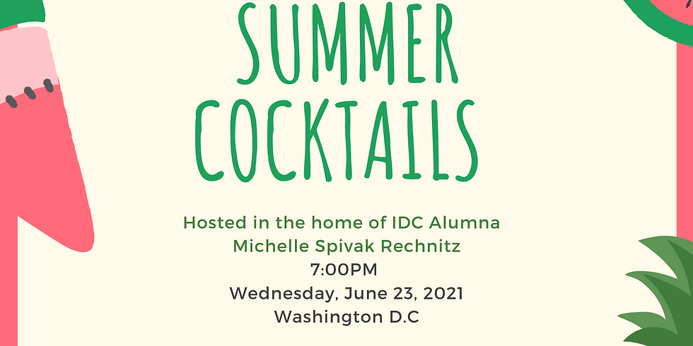 Summer Cocktails for IDC Alumni in Washington D.C