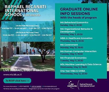 Graduate Mini Series Sessions May 2021 w
