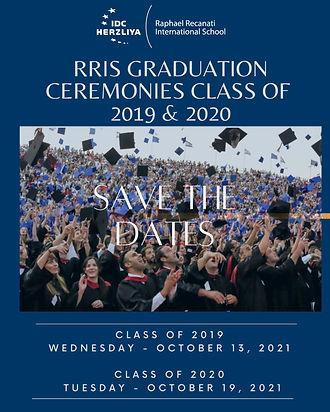 Save the Dates RRIS Grad Ceremonies - Cl