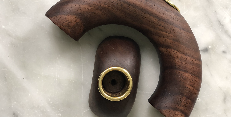 Walnut Arches Candle Holder #1