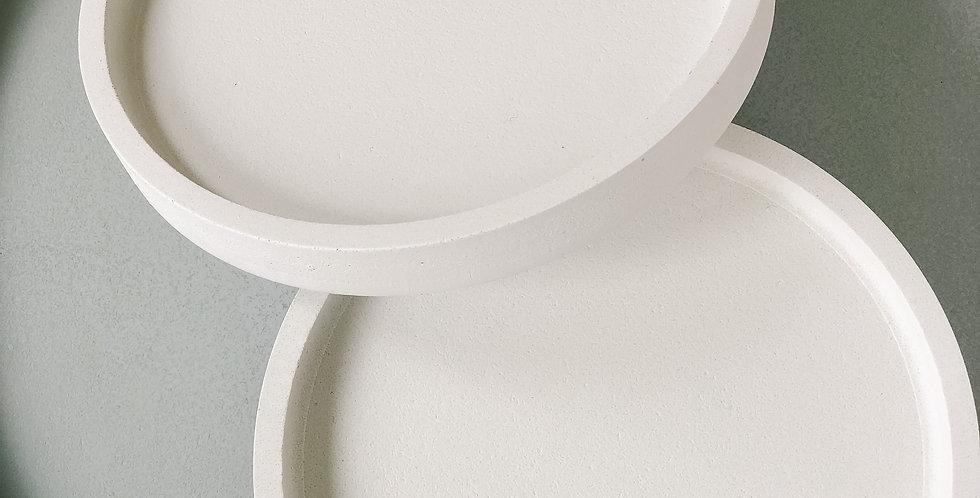 Small Concrete Tray - White