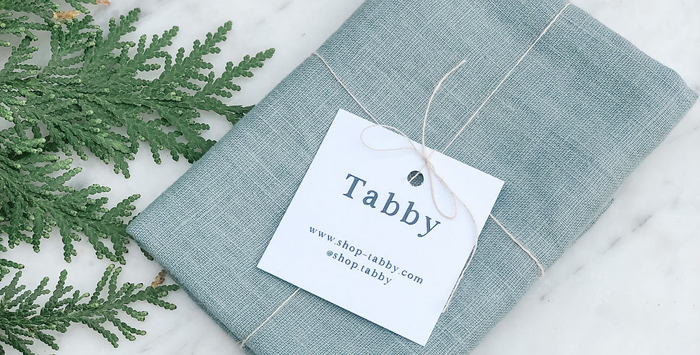 Linen Tea Towel - Dusty Blue