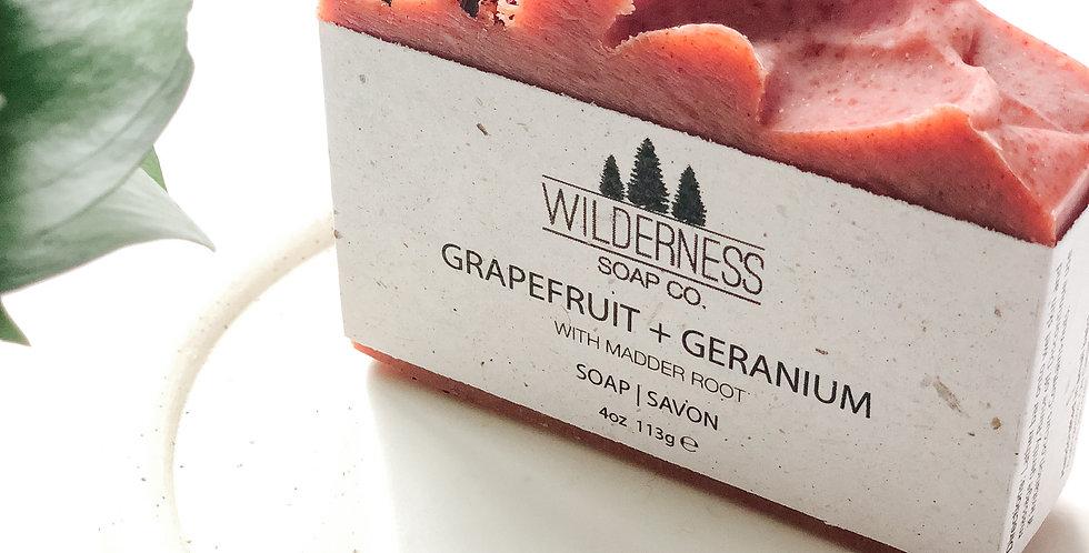 Grapefruit + Geranium Soap Bar