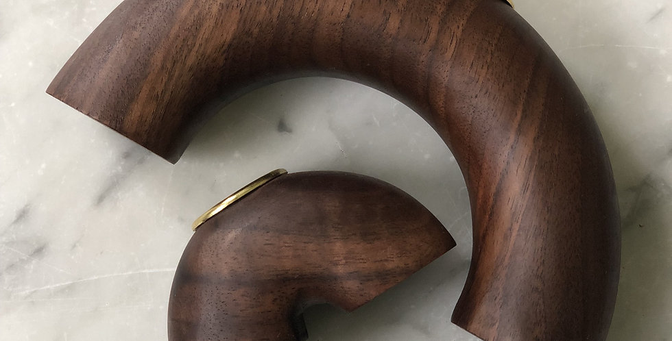 Walnut Arches Candle Holder #2