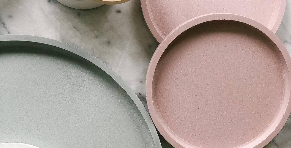 Small Concrete Tray - Blush