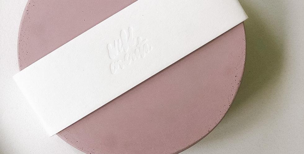 Concrete Coasters - Blush, Set of 4