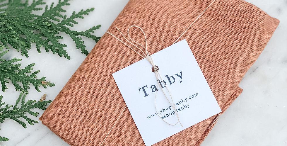 Linen Tea Towel - Ochre