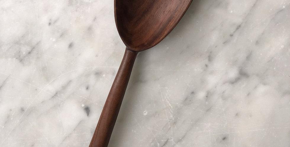 Oblong Walnut Serving Spoon