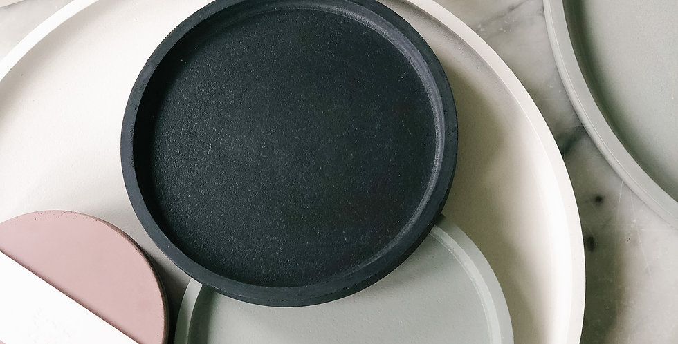 Small Concrete Tray - Charcoal
