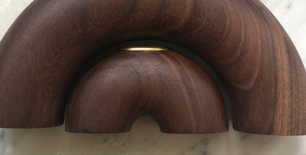 Walnut Arches Candle Holder #3