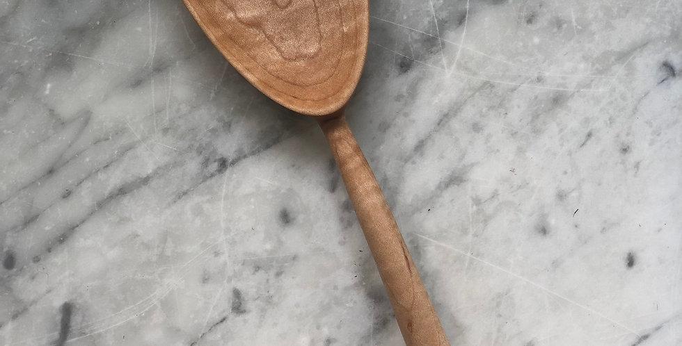 Oval Serving Spoon - Bird's Eye Maple