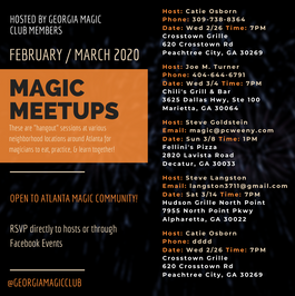 February / March 2020 Events
