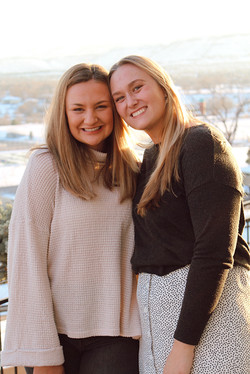 My younger sister, Lizzie, and I on Thanksgiving.