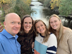My Dad, Mom, and Sister smiling on a fall day in Golden, Colorado!