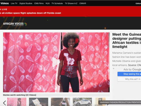 """MARIAMA CAMARA FEATURED ON CNN -AFRICAN VOICES"""" CHANGE MAKERS"""""""