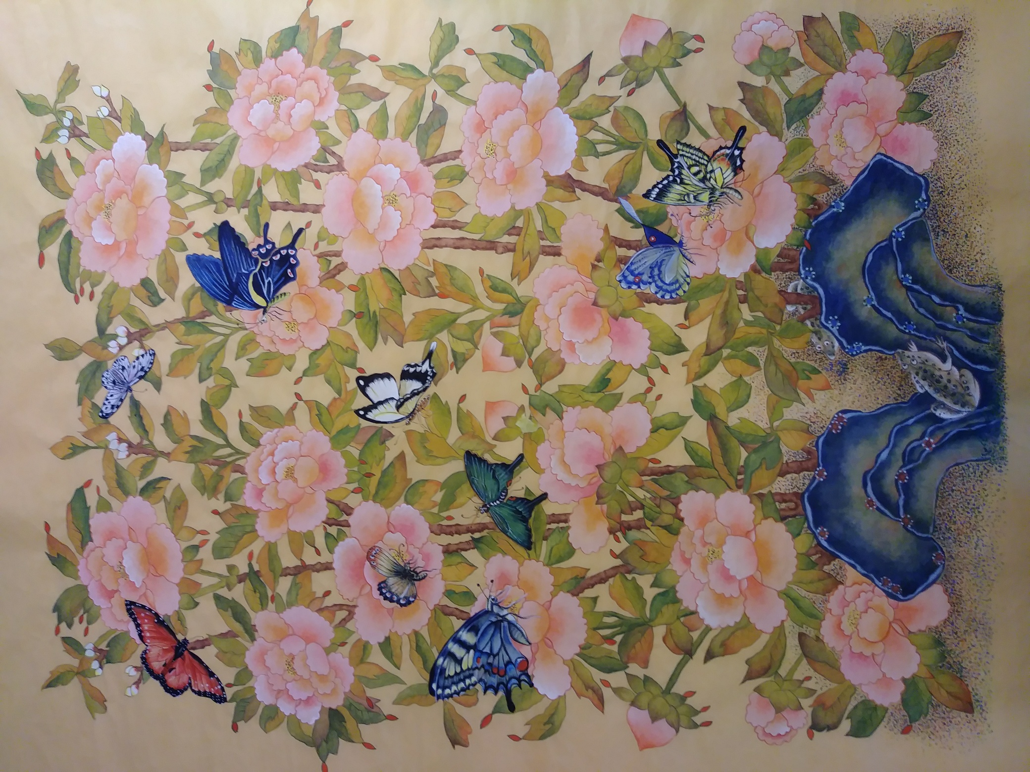 Moran & friends_   28x34_water color on