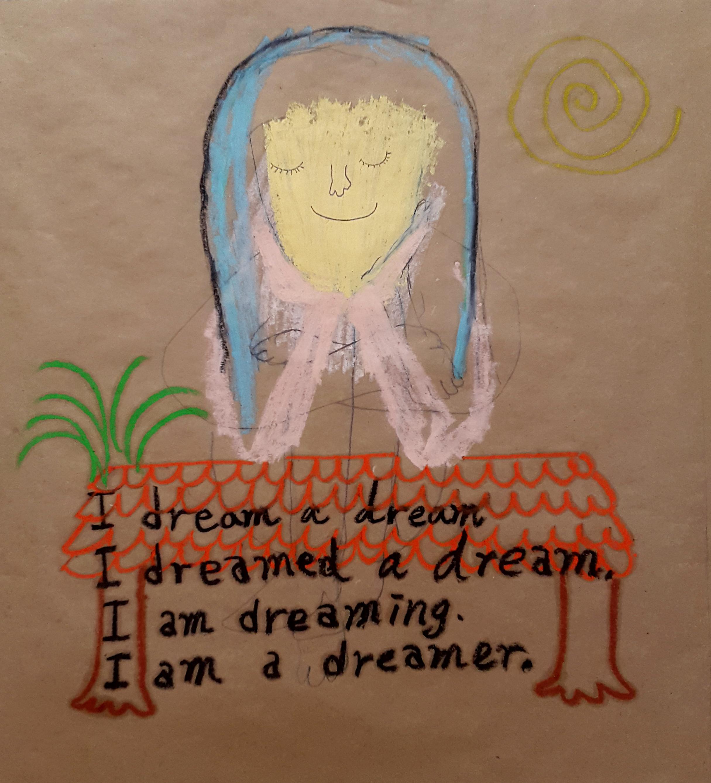 I_dream_a_dream_67×64cm_oilbar,_oilpastel_on_paper_2016