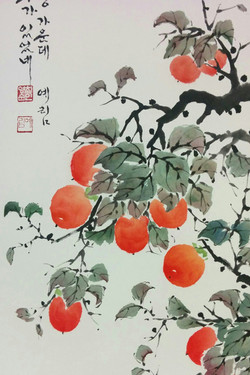 "Richness_13""×25""_watercolor_on_Hanj"