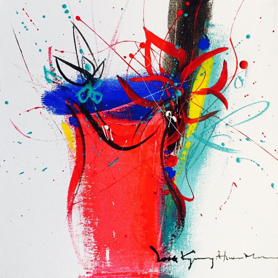 Here I Am II-1 40.5x50.5cm Acrylic on canvas 2017