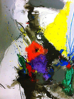 Here I Am II 20x23.5inch Acrylic on Canvas