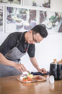 Chef preparing breakfast
