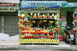Fruit stand, District 10, Saigon