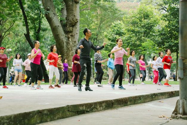 Morning dancing in Tao Dan Park, District 1, Saigon
